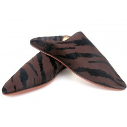 Babouche pointue TIGRE MARRON