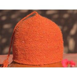 Bonnet laine orange