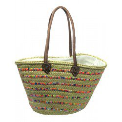 Panier simple MM rayures paillettes MULTICOLORE