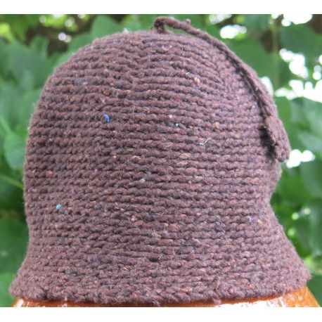 Bonnet laine Marron