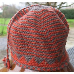Bonnet laine Marron Orange